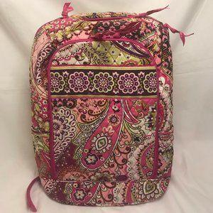 Vera Bradley Pink Paisley Laptop Backpack